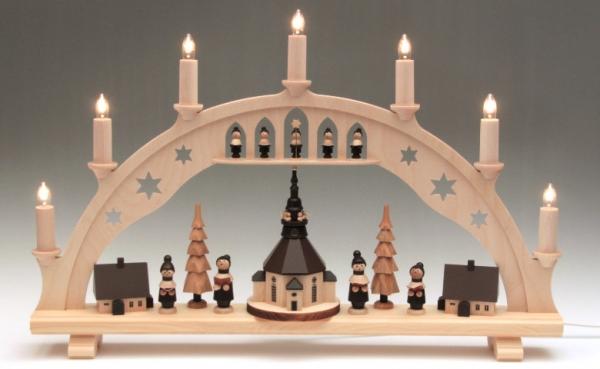 erzgebirgische wichtelstube schwibbogen seiffener kirche. Black Bedroom Furniture Sets. Home Design Ideas